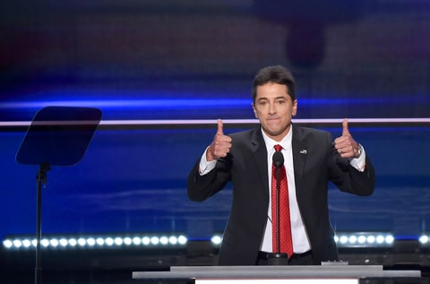 Actor Scott Baio spoke on first day of the RNC on July 18th, 2016 in Cleveland, Ohio.