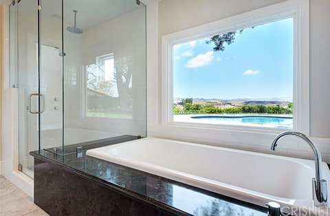 The view from one of the bathrooms at Scott Disick's new bachelor pad
