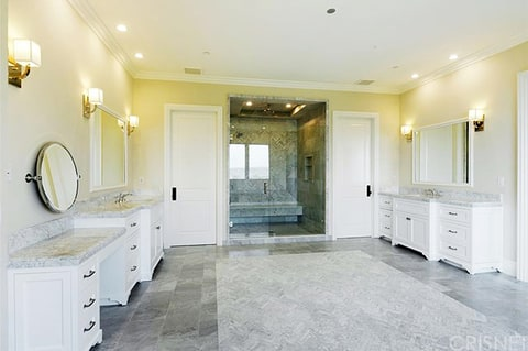 One of the bathrooms at Scott Disick's new bachelor pad
