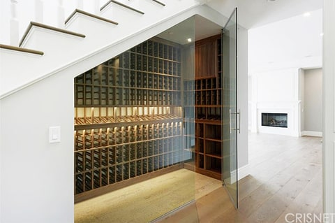 The wine cellar at Scott Disick's new bachelor pad