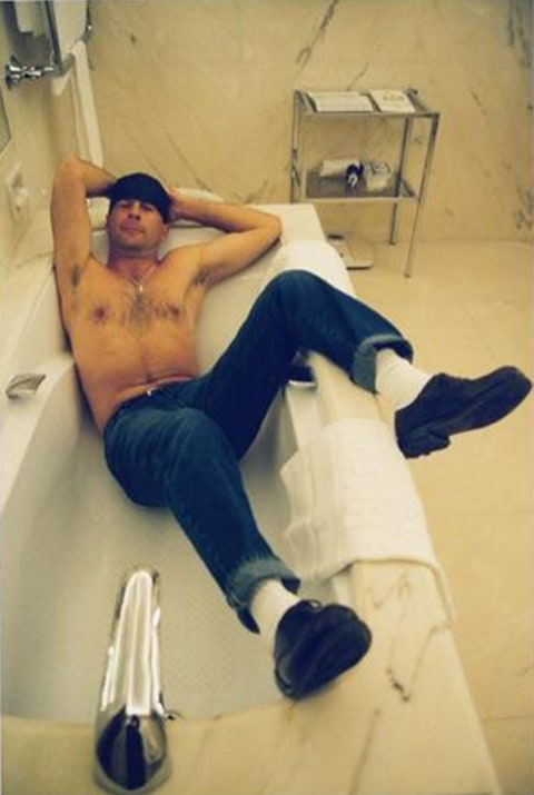 Bruce willis in tub
