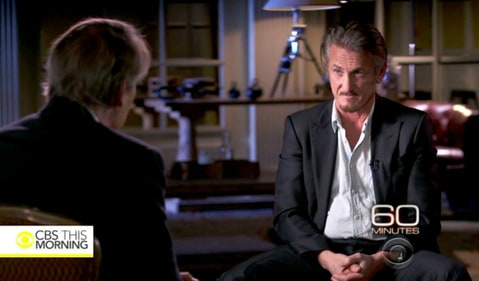 Sean Penn on' 60 Minutes.'