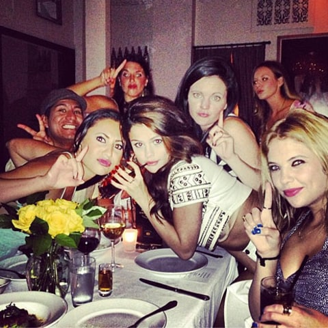 Ashley Benson Selena Gomez group shot