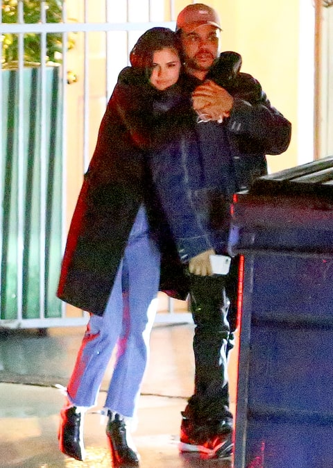 Selena Gomez and The Weeknd on January 10, 2017.