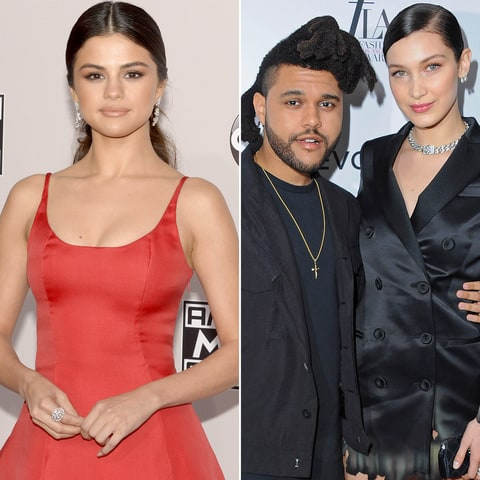 selena gomez bella hadid the weeknd relationship friends
