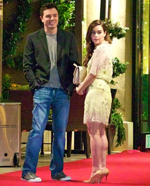 Seth and Emilia outside hotel