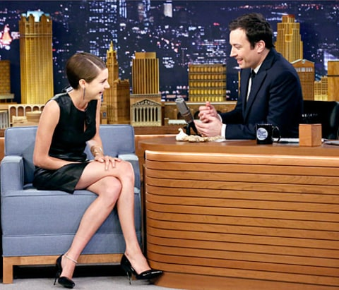 Shailene Woodley and Jimmy Fallon