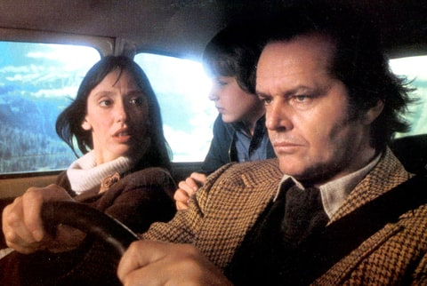 Shelley Duvall, Danny Lloyd, and Jack Nicholson in 'The Shining', 1980.