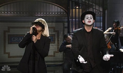 Sia on SNL with Mime