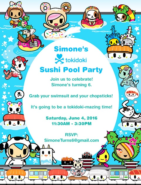 Guncles Simone Sushi Swim Party