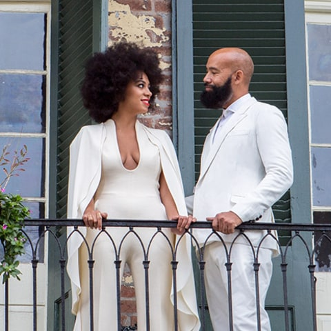 Solange and Alan Ferguson on Balcony