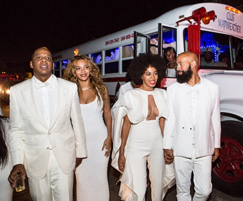 Solange and Alan Ferguson with Beyonce and JayZ