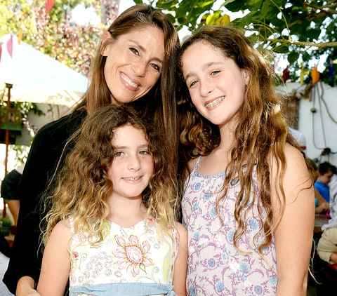 Soleil Moon Frye and her daughters attend Amazon Video's Tumble Leaf Family Fun Day hosted by Au Fudge on September 13, 2015.
