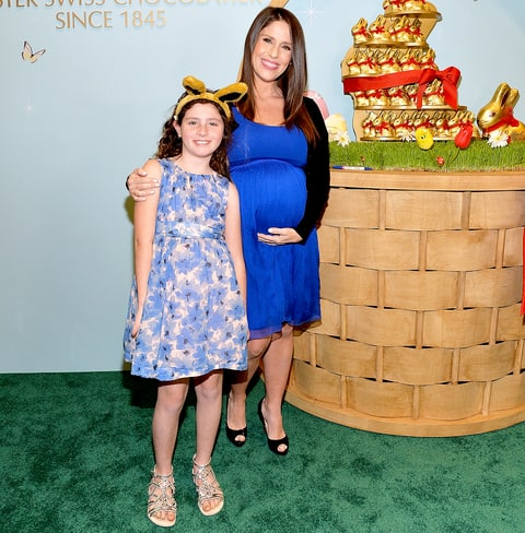 Soleil Moon Frye with daughter Jagger Goldberg attend the 7th Lindt Gold Bunny Celebrity Auction Benefiting Autism Speaks Launch at Lindt Chocolate Shop on March 10, 2016