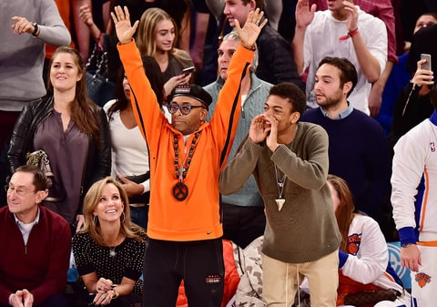 Spike Lee attends the New York Knicks game