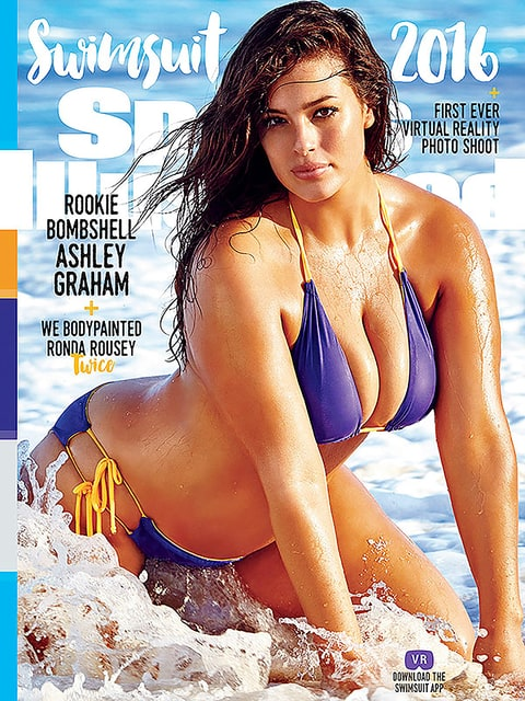 Ashley Graham on the cover of Sports Illustrated