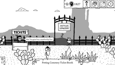 West of Loathing's Petting Cemetery