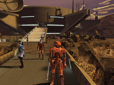 KOTOR featured homicidal robot HK-47 and was set thousands of years before the movies