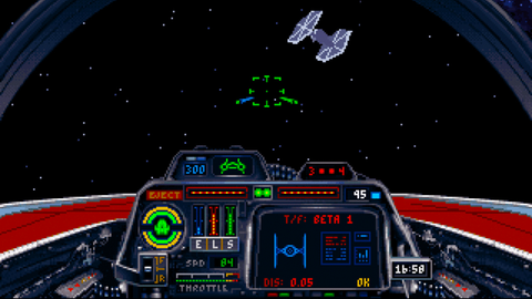 LucasArts' 'X-Wing' and 'TIE-Fighter' games used true 3D models for the ships