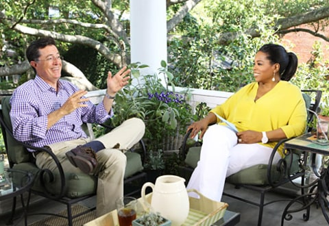 Stephen Colbert and Oprah