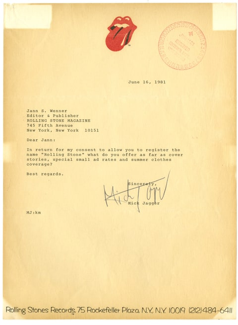mick jagger letter rolling stone rolling stones flashback