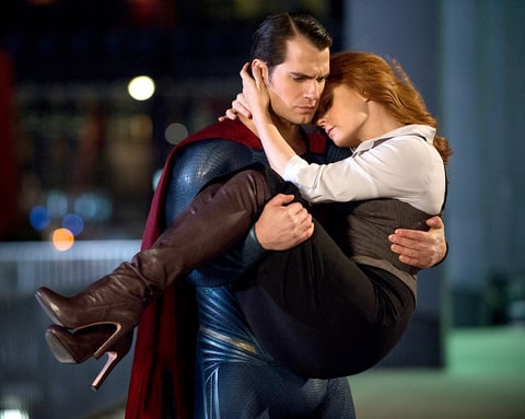 Lois Lane (Amy Adams) and Clark Kent/Superman (Henry Cavill)