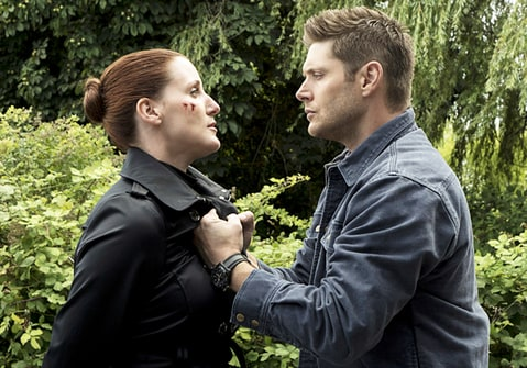 Bronagh Waugh as Ms. Watt and Jensen Ackles as Dean on 'Supernatural.'