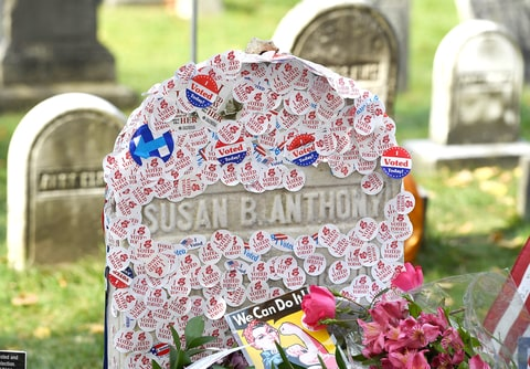 Women Are Covering Susan B. Anthonys Grave With I Voted Stickers