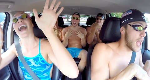 USA Olympic Swim Team's Carpool Karaoke
