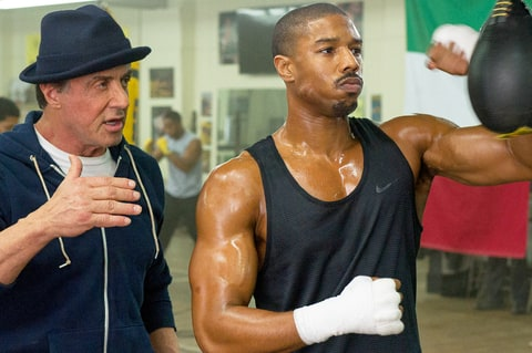 Sylvester Stallone and Michael B. Jordan