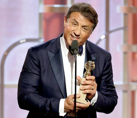 Sylvester Stallone accepts the award for Best Supporting Actor — Motion Picture.