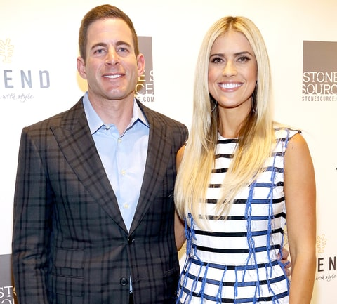 Tarek El Moussa and Christina El Moussa attend Tarek and Christina, TV's Favorite House Flippers, Featured at TREND/Stone Source Event in New York on September 15, 2016 in New York City.