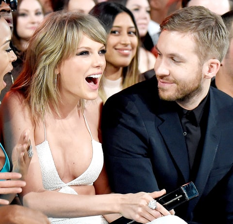 Taylor Swift and Calvin Harris attend the 2015 Billboard Music Awards.