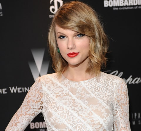 Taylor Swift attends The Weinstein Company Academy Award party