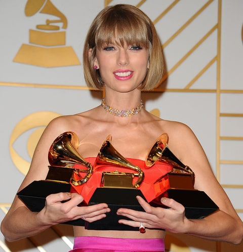 Taylor Swift backstage at the Grammys 2016