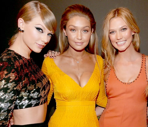 Taylor Swift, Gigi Hadid and Karlie Kloss
