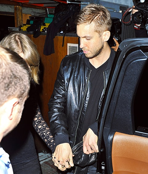 taylor swift and calvin harris holding hands
