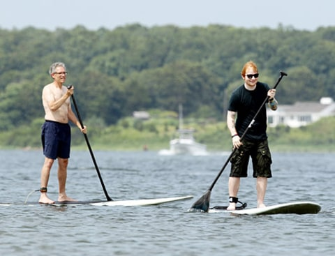 ed sheeran paddleboarding
