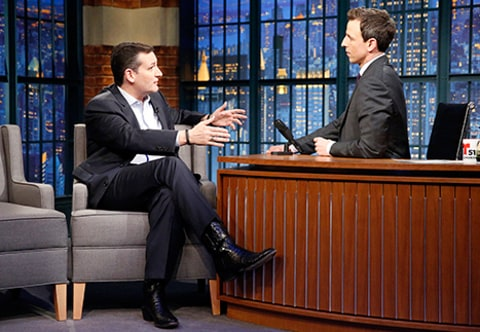 ted cruz on seth meyers