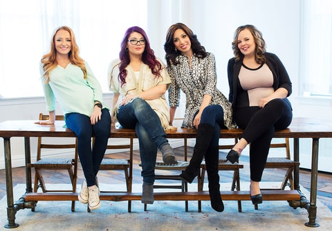 Maci Bookout, Amber Portwood, Farrah Abraham and Catelynn Lowell