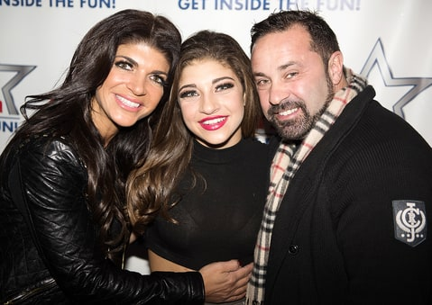Teresa, Gia and Joe Giudice