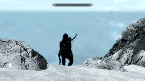 The path to High Hrothgar in 'Skyrim: Special Edition'