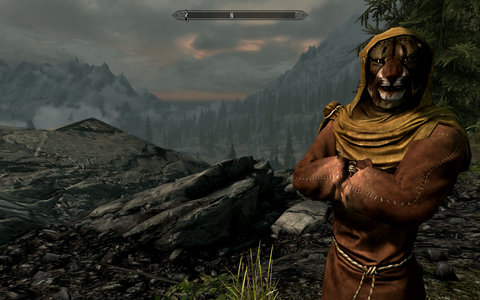 Skyrim: Special Edition - M'aiq the Liar appears randomly, looking to score some catnip