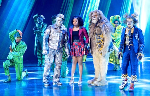 Ne-Yo as Tin-Man, Shanice Williams as Dorothy, David Alan Grier as Lion in The Wiz Live!