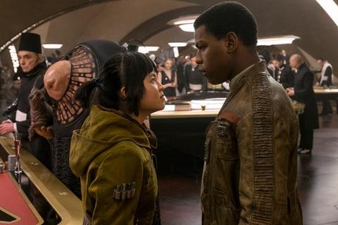 Star Wars: The Last Jedi..L to R: Rose (Kelly Marie Tran) and Finn (John Boyega).