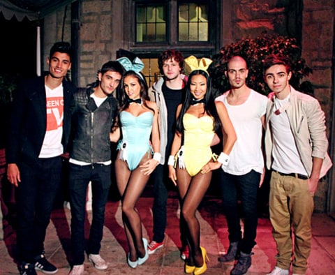The Wanted at the Playboy Mansion