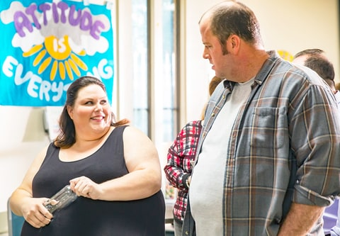 Chrissy Metz as Kate, Chris Sullivan as Toby