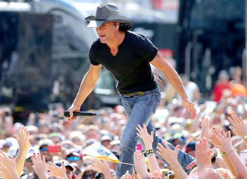 Tim McGraw performs prior to the NASCAR Sprint Cup Series Ford EcoBoost 400 at Homestead-Miami Speedway on November 22, 2015 in Homestead, Florida.