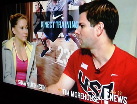 Tim Morehouse and Shawn Johnson