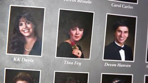 Tina Fey yearbook photo